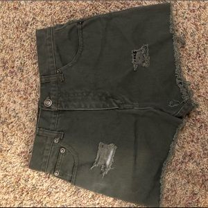 Route 66 army green shorts